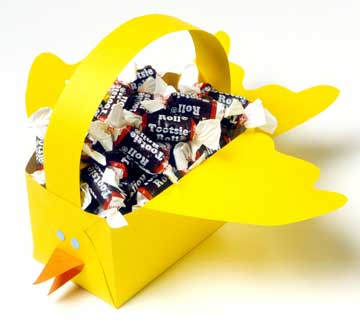 cesta de papel de pássaro